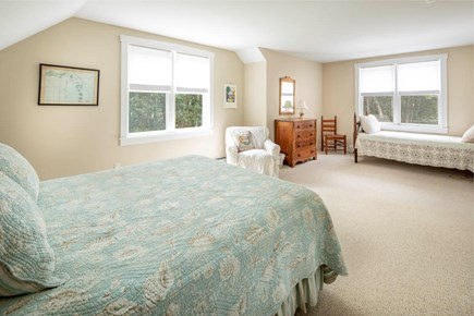 Wellfleet Cape Cod vacation rental - One of the two upper bedrooms with queen and single daybed.