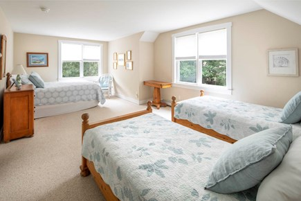 Wellfleet Cape Cod vacation rental - Additional upper bedroom with queen and two twin beds.