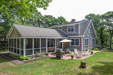 Wellfleet Cape Cod vacation rental - Enjoy relaxing at the end of the day on the beautiful patio