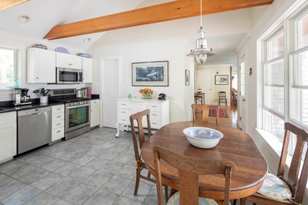 Wellfleet Cape Cod vacation rental - Kitchen view looking toward the living/dining room.