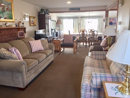 Eastham Cape Cod vacation rental - Living room flows into the dining room area.