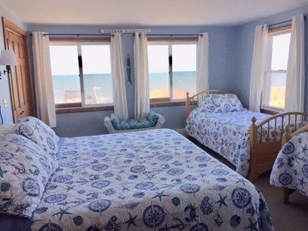 Eastham Cape Cod vacation rental - Upstairs Bedroom King with two singles. Ocean views