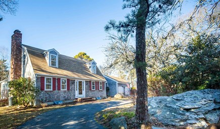 Dennis Village Cape Cod vacation rental - Set back from street with u-shaped driveway and lots of parking.