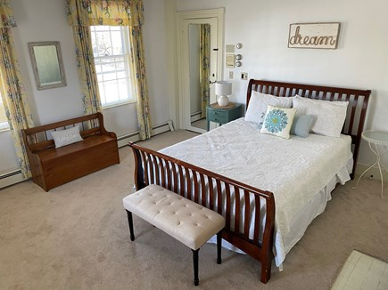 Yarmouth Port Cape Cod vacation rental - White bedroom with queen bed and full en suite bathroom