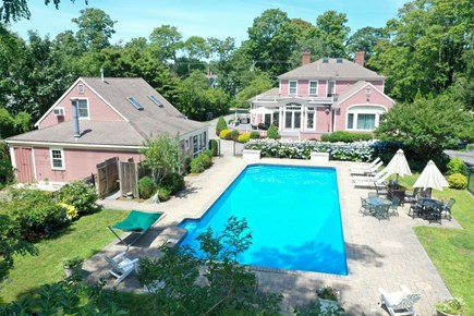 Yarmouth Port Cape Cod vacation rental - Pool and partial backyard view