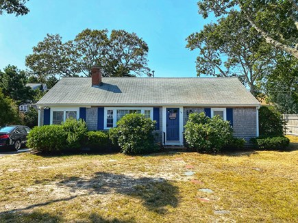 West Dennis Cape Cod vacation rental - Charming Cape - exterior from the front. New trim and paint.