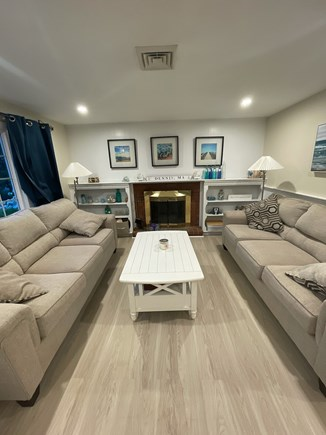 West Dennis Cape Cod vacation rental - Updated living room.