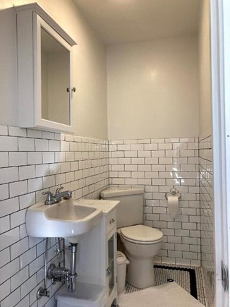Truro Cape Cod vacation rental - 1/2 Bath inside, shower is enclosed outdoor shower