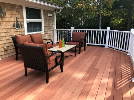 Hyannis, Beach Haven Cottage Cape Cod vacation rental - Deck overlooking the water