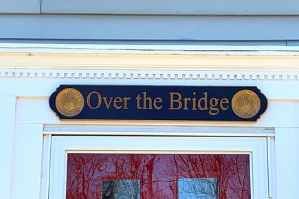 East Dennis Cape Cod vacation rental - Over the Bridge at Sesuit, entrance to The Carriage House.