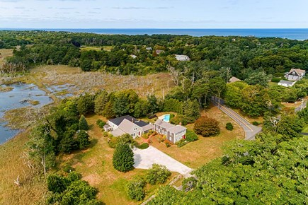 East Dennis Cape Cod vacation rental - Aerial View of the Property.