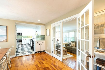 East Dennis Cape Cod vacation rental - The View from Dining Room to the Kitchen.