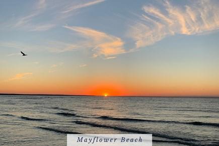 East Dennis Cape Cod vacation rental - Cape Cod Bay at Mayflower Beach.