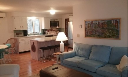 Wellfleet Cape Cod vacation rental - Living room open to kitchen