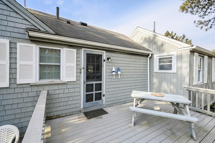Hyannis Cape Cod vacation rental - Rear deck with plenty of space and charcoal grill
