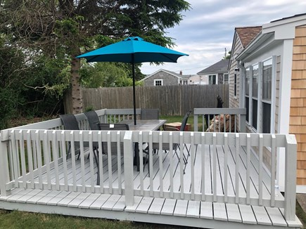 West Yarmouth Cape Cod vacation rental - Deck with dining for 6, newly stained