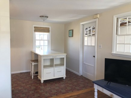 West Yarmouth Cape Cod vacation rental - View of the kitchen from the small living room