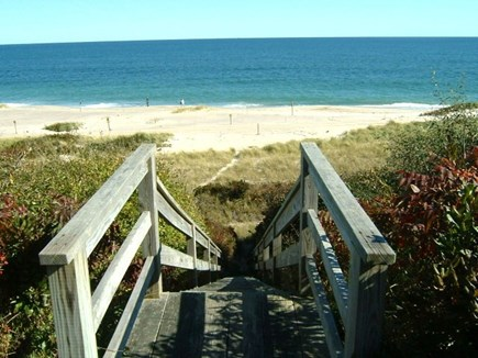 East Orleans Cape Cod vacation rental - Private Stairway leading to the shoreline of Nauset Beach