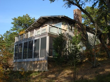 Wellfleet Cape Cod vacation rental - Screened in porch with deck above