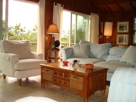 Wellfleet Cape Cod vacation rental - Living with sliders to deck