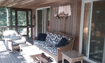 Wellfleet Cape Cod vacation rental - Screened in porch access from 2 bedrooms