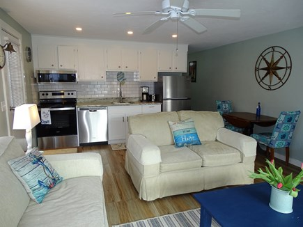 Provincetown Cape Cod vacation rental - Living area expands to dining area and kitchen