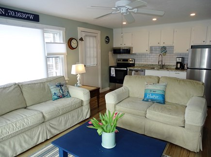 Provincetown Cape Cod vacation rental - Sunny bright living area, two new couches, A/C throughout