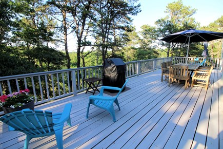 Wellfleet Cape Cod vacation rental - Large deck with outdoor furniture and gas grill