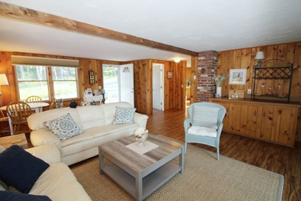 Wellfleet Cape Cod vacation rental - Comfortable living room with wet bar, TV and game table