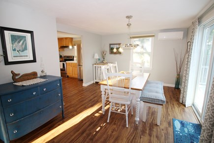 Wellfleet Cape Cod vacation rental - Dining room, off kitchen, has a slider to the large deck