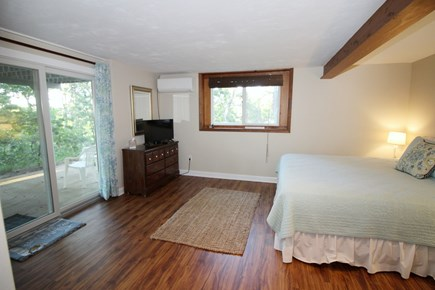 Wellfleet Cape Cod vacation rental - Lower level bedroom with king bed and slider