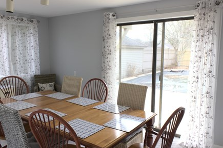 New Seabury Cape Cod vacation rental - Dining  with plenty of seating and slider to pool