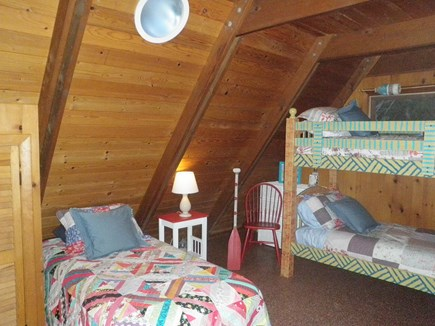 East Orleans Cape Cod vacation rental - 1st floor bedroom - Bunk beds + 2 twins (trundle).