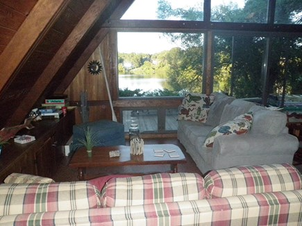 East Orleans Cape Cod vacation rental - View into living room from kitchen.