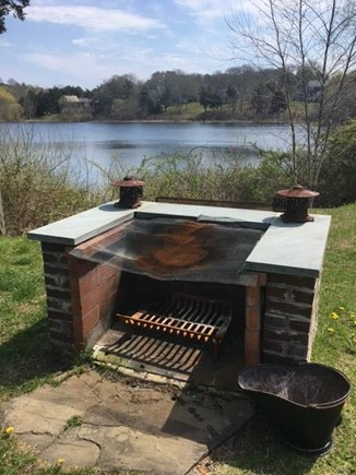 East Orleans Cape Cod vacation rental - Fire pit. There is also a gas grill for BBQ ing.