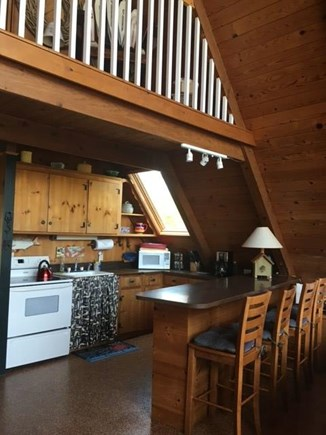 East Orleans Cape Cod vacation rental - View of kitchen and counter/bar.