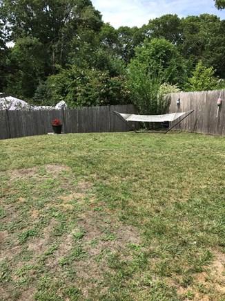 West Dennis Cape Cod vacation rental - Backyard hammock