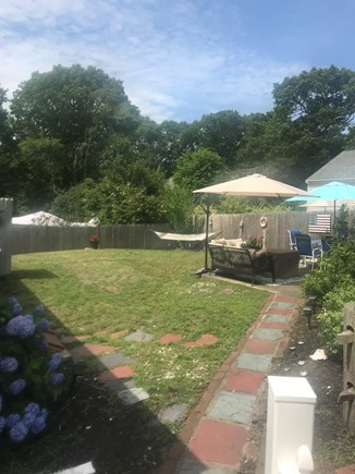 West Dennis Cape Cod vacation rental - Patio and backyard