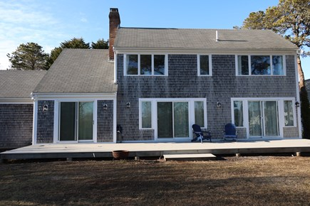 South Chatham Cape Cod vacation rental - Back of Home and Deck