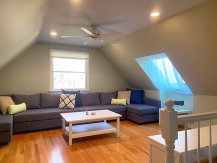 Brewster Cape Cod vacation rental - Upstairs family room, with streaming HD TV.