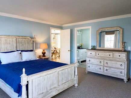 Brewster Cape Cod vacation rental - MBR with en suite, memory foam bed, walk in closet and window AC.