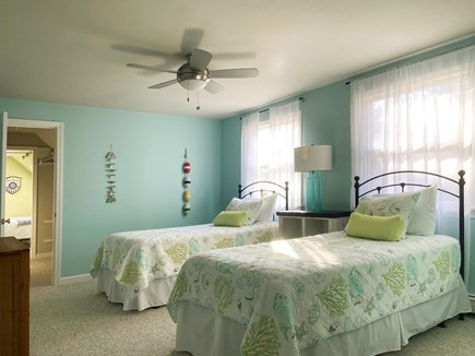 Brewster Cape Cod vacation rental - Bright and cheery 2nd floor bedroom. Ceiling fan and AC unit.