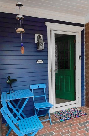 Brewster Cape Cod vacation rental - Green door with inviting place to rest.