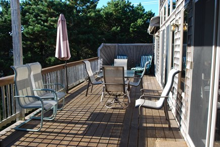 North Truro Cape Cod vacation rental - Deck (runs along length of back of house)