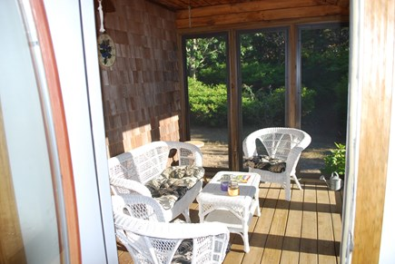 North Truro Cape Cod vacation rental - Screened in porch (off the kitchen)