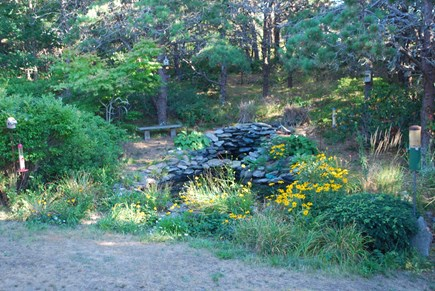 North Truro Cape Cod vacation rental - Pond with small waterfall