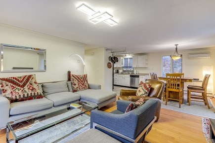 Provincetown Cape Cod vacation rental - Open concept living room /dining room