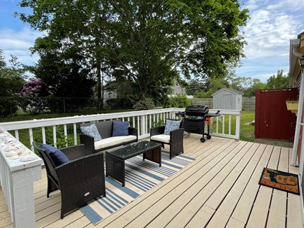 Hyannisport Cape Cod vacation rental - The spacious deck allows for great conversation!