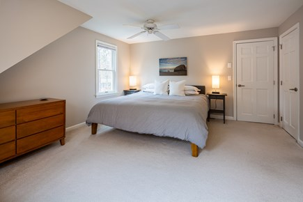 Orleans Cape Cod vacation rental - Second floor king room w/ new bed and ceiling fan