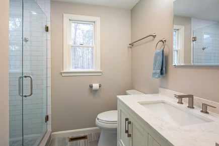 Orleans Cape Cod vacation rental - First floor full bath w/ tiled shower remodeled 2020